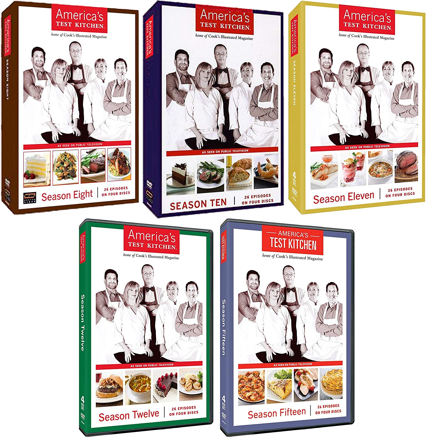 America's Test Kitchen: Cooking Series Seasons 8 10 11 12 15 DVD Collection