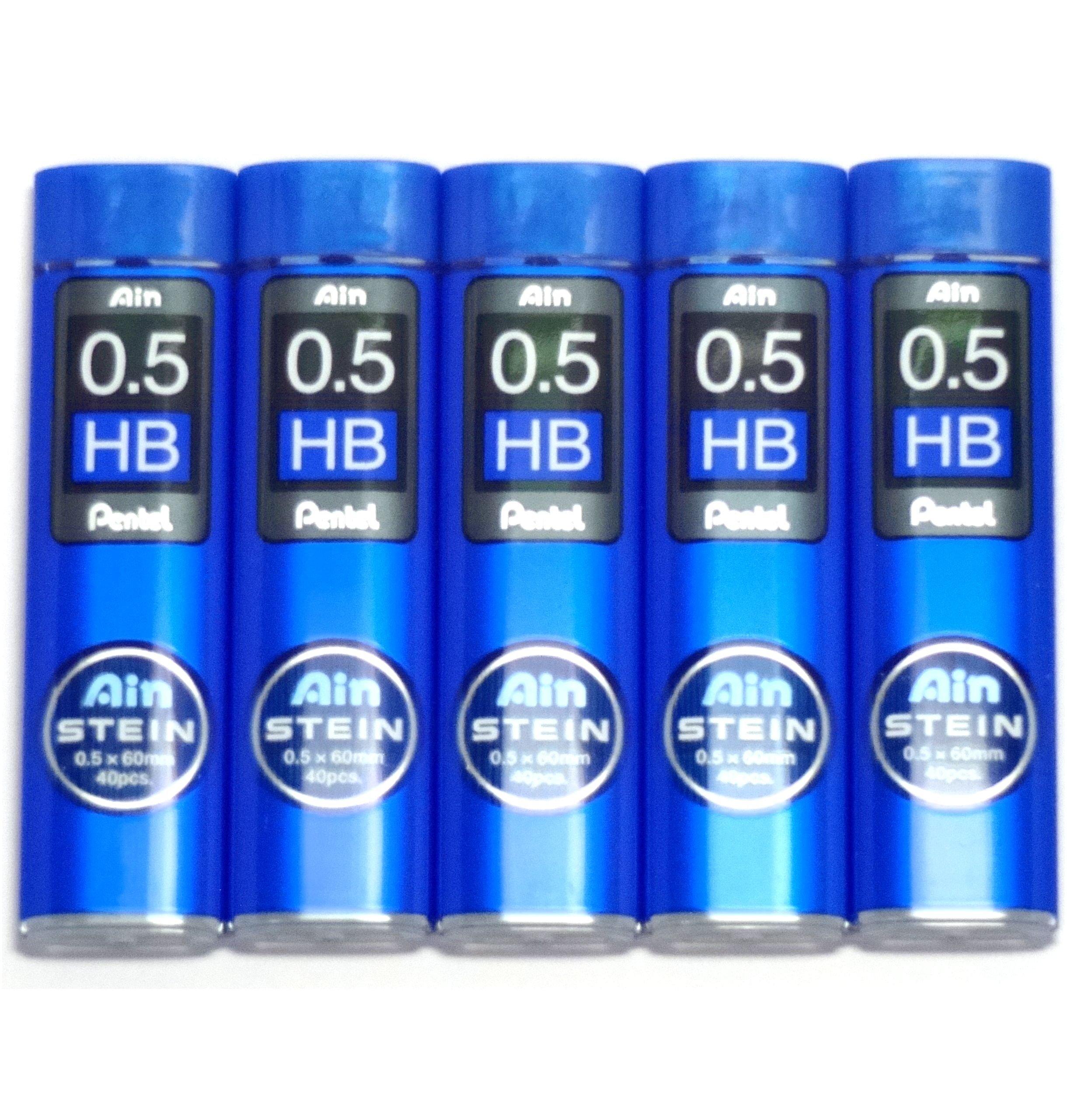 Pentel Ain Stein 200 Minas (5 Tubos) 0.5mm HB