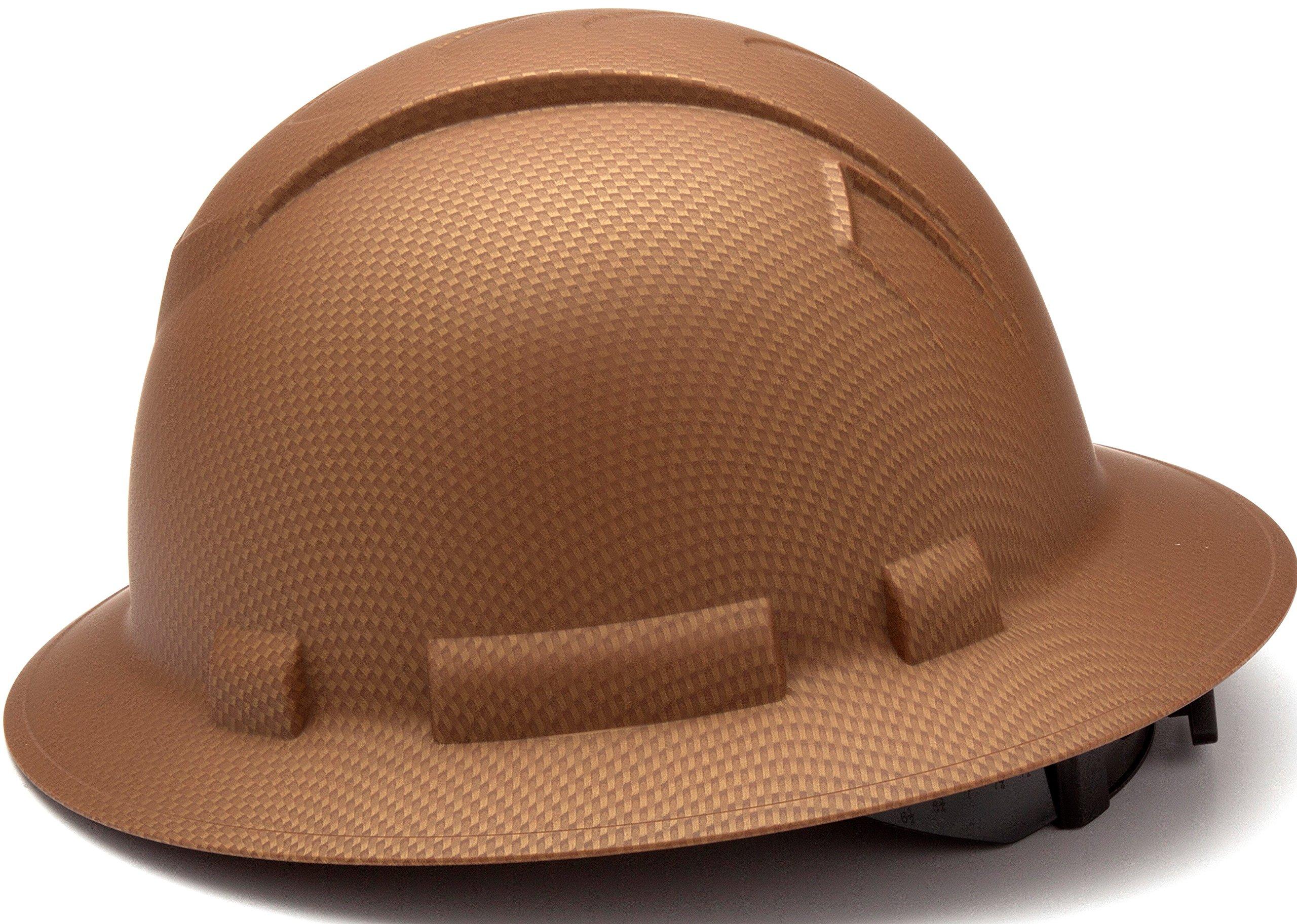 Pyramex Safety PYRAMEX - HP54118 - Copper - Full Brim Ridgeline Full Brim Graphite Pattern Hard Hat, Copper Graphite Pattern by Pyramex Safety (Image #3)