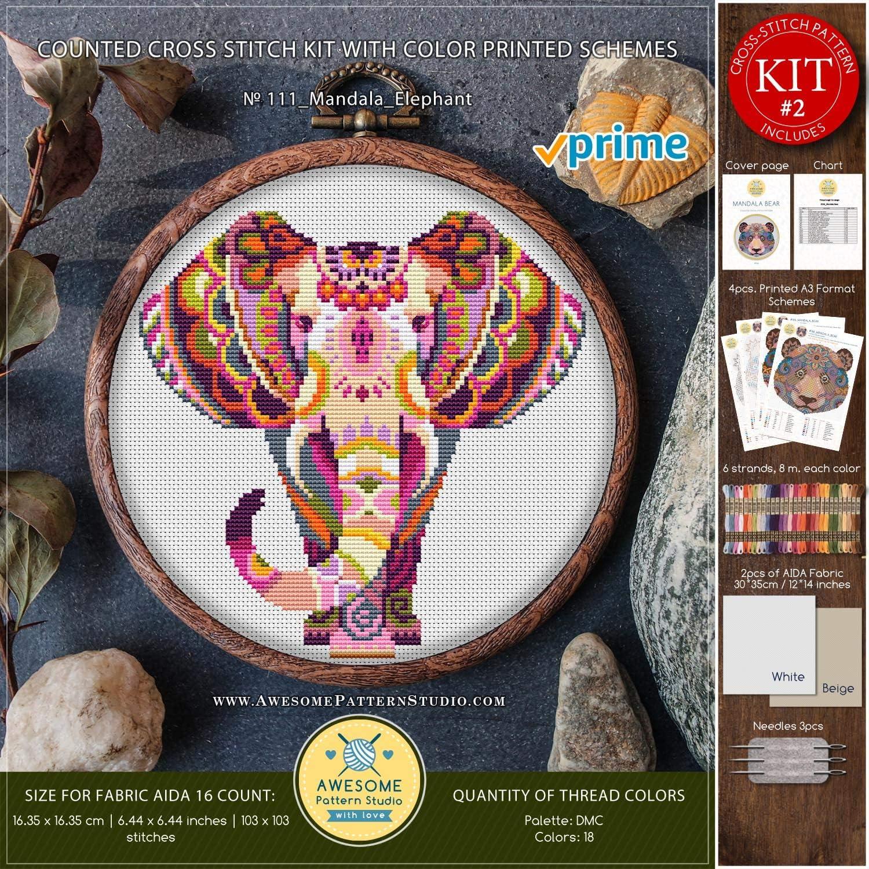 ELEPHANT Chart Counted Cross Stitch Pattern Needlework