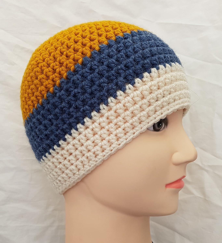 Amazoncom Mens Crochet Beanie Hat Handmade