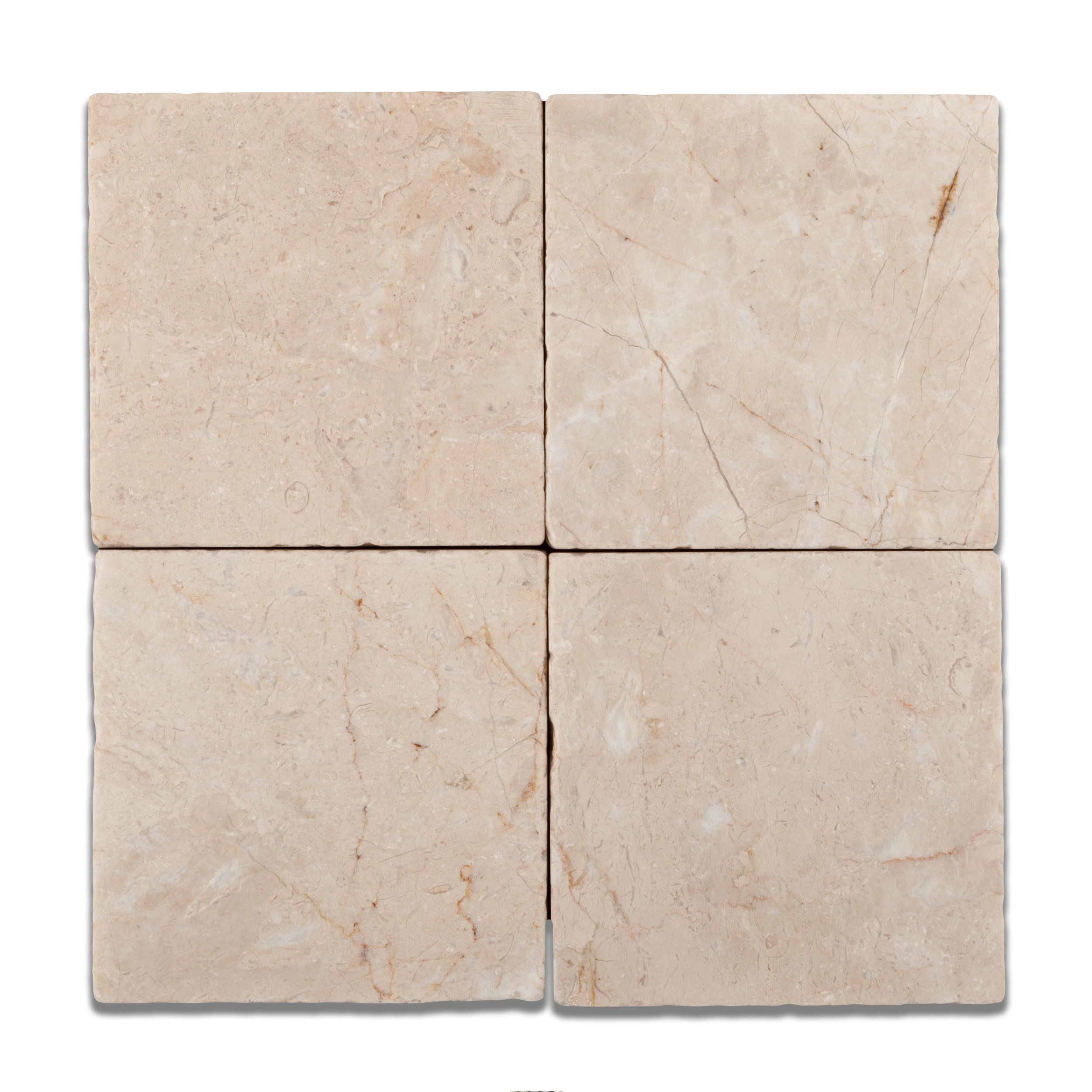 Bursa Beige / Sandy Beige Marble 6 X 6 Tumbled Field Tile - Box of 5 sq. ft.
