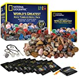 NATIONAL GEOGRAPHIC Rock Tumbler Refill – 2268g Mix of Rocks and Gemstones for Rock Tumblers, Includes Agate, Jasper…