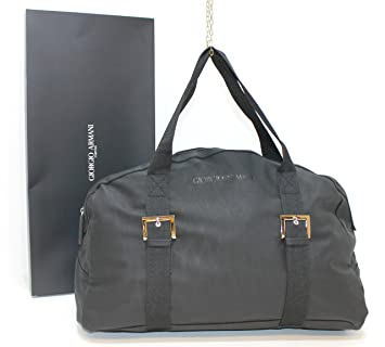 81accae8356 GIORGIO ARMANI parfums black faux leather bag   holdall   travel bag   new    boxed
