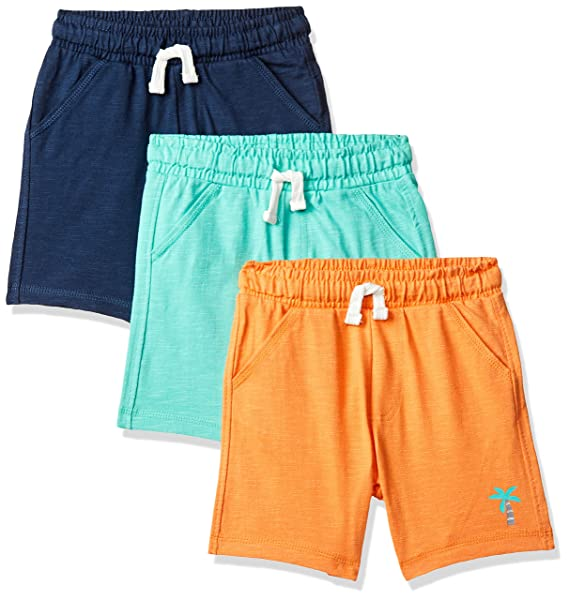 Baby Boys Regular fit Cotton Shorts (Pack of 3)