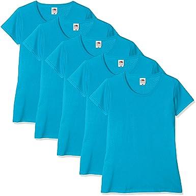 2f42fc028df8 Fruit of the Loom Women Valueweight 5 T-Shirt: Amazon.co.uk: Clothing