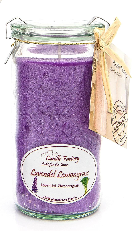 Candle Factory Duftkerze 15 x 7 x 15 cm lavendel lemongrass