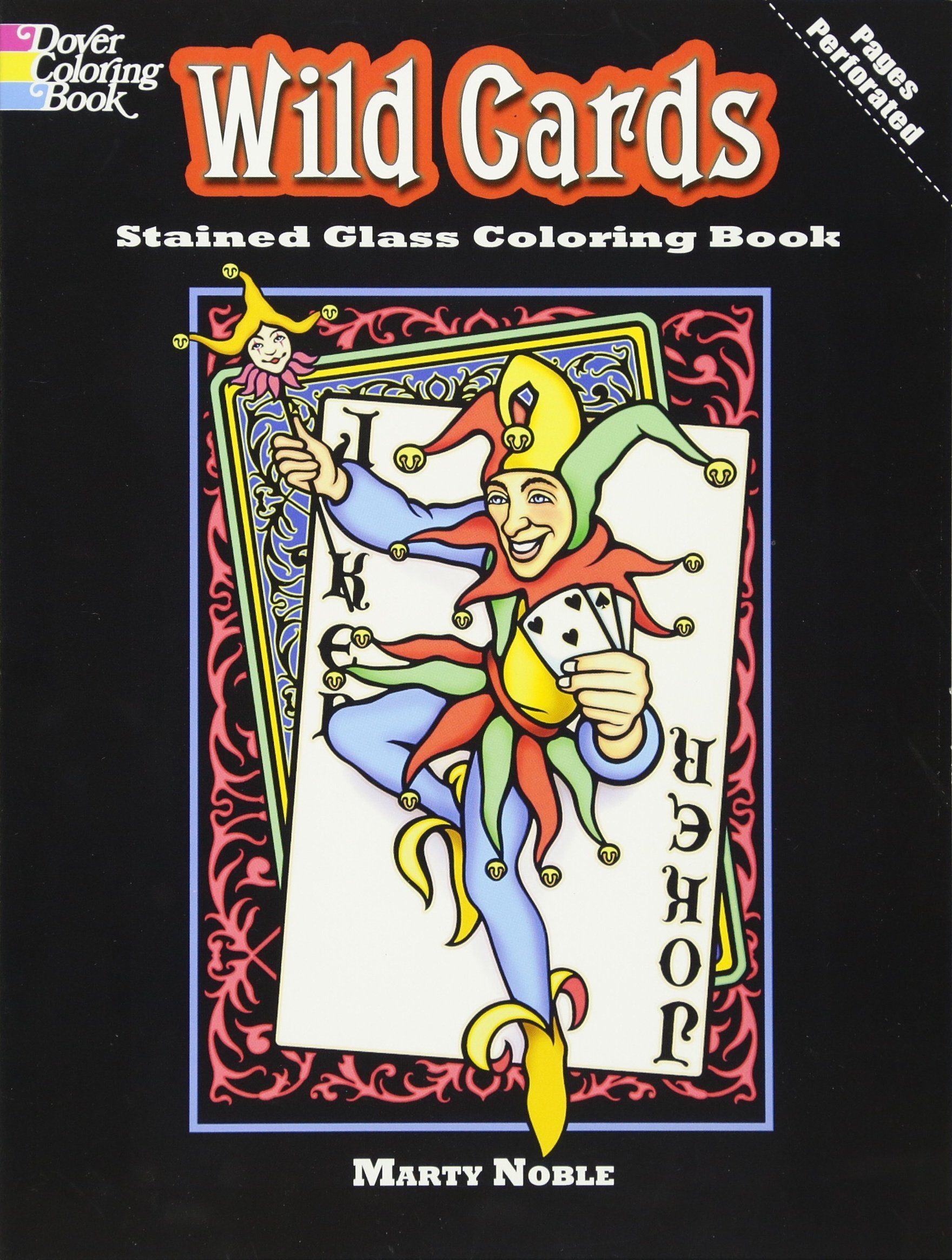 Wild Cards Stained Glass Coloring Book Dover Stained Glass