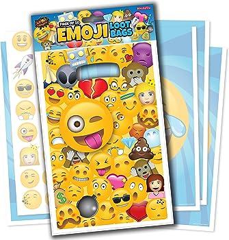50-Pack Emoji Trick or Treat Loot Bags for Kids