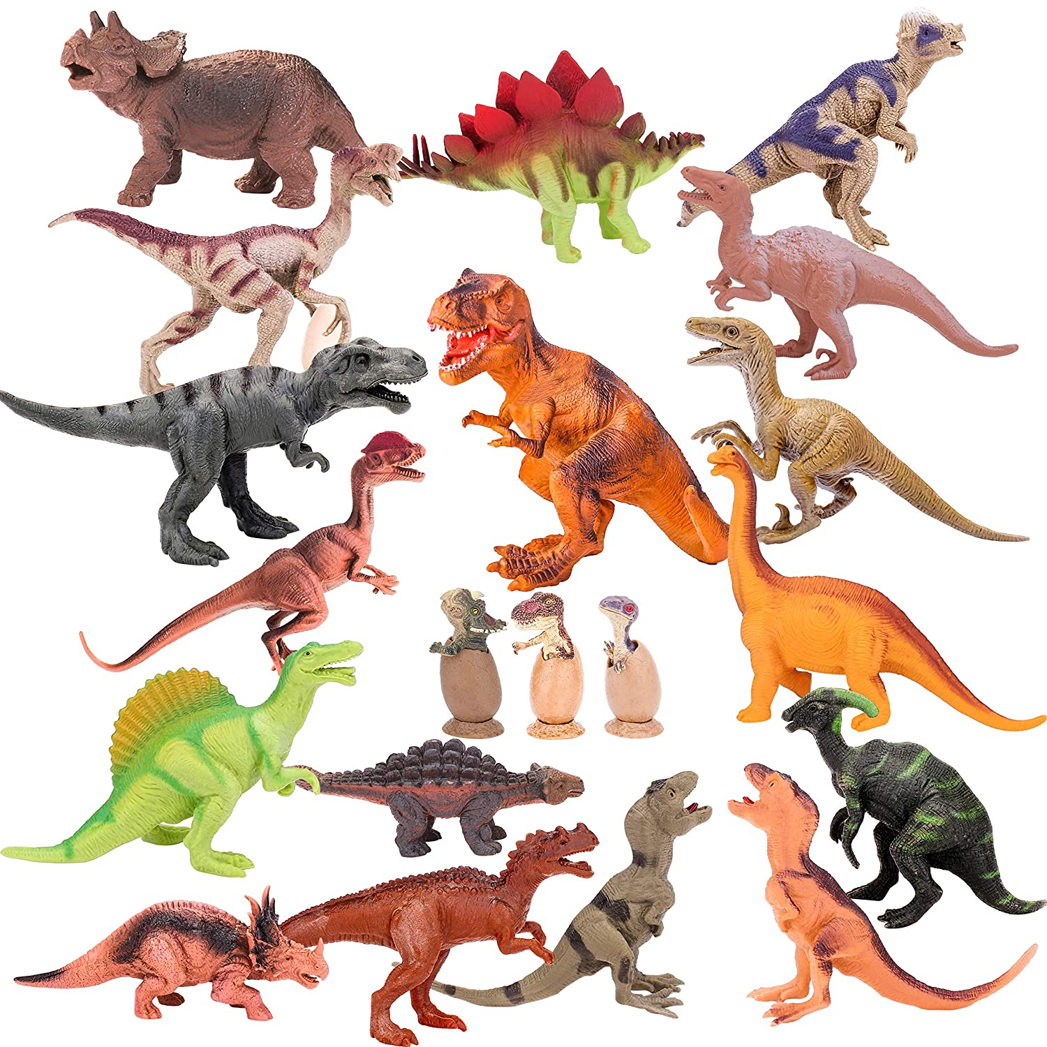 Dinosaur Toy Play Set Jumbo Animal Kids Toddler Pretend Figures 5 Piece New Animals & Dinosaurs