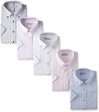 sa02 形態安定 atelier365 (アトリエサンロクゴ) 5枚セット ビジネスYシャツ クールビズ/ 半袖 ワイシャツ