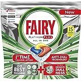 Fairy Platinum Plus Dishwasher Tablets Lemon 15 Tablets