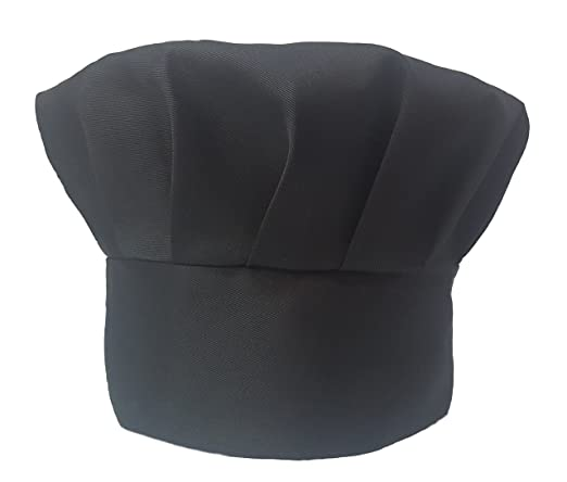 Amazon.com: Chef Obvio – Negro Gorro De Chef – Velcro ...