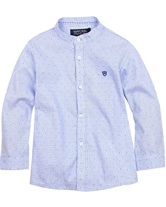 bcfd53a666ca Amazon.com  Mayoral Boy s Mao Collar Shirt