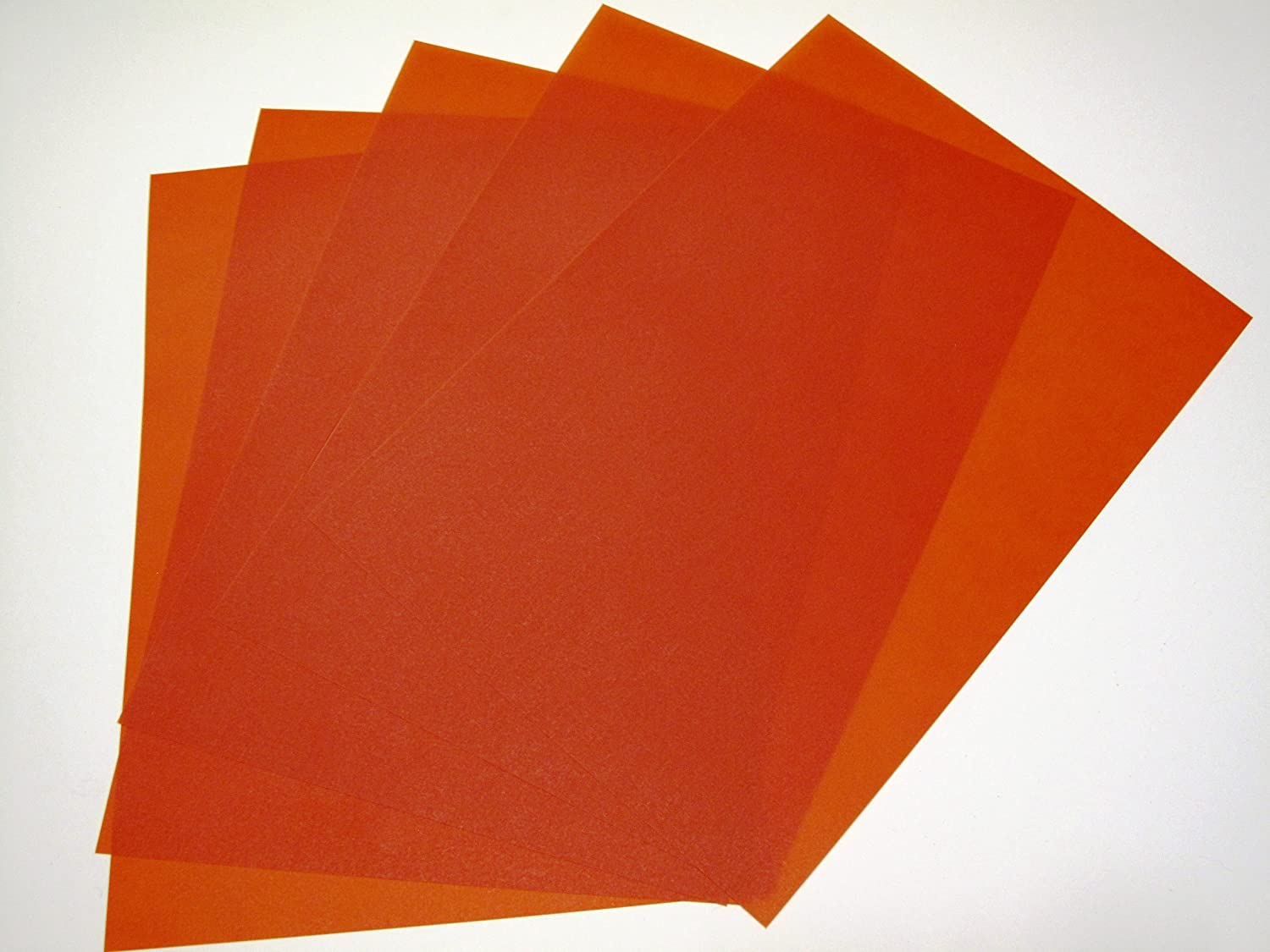 10 x A4 200gsm Red Translucent Vellum Paper Suitable for use with Laser & Inkjet Printers Jackdaw Express