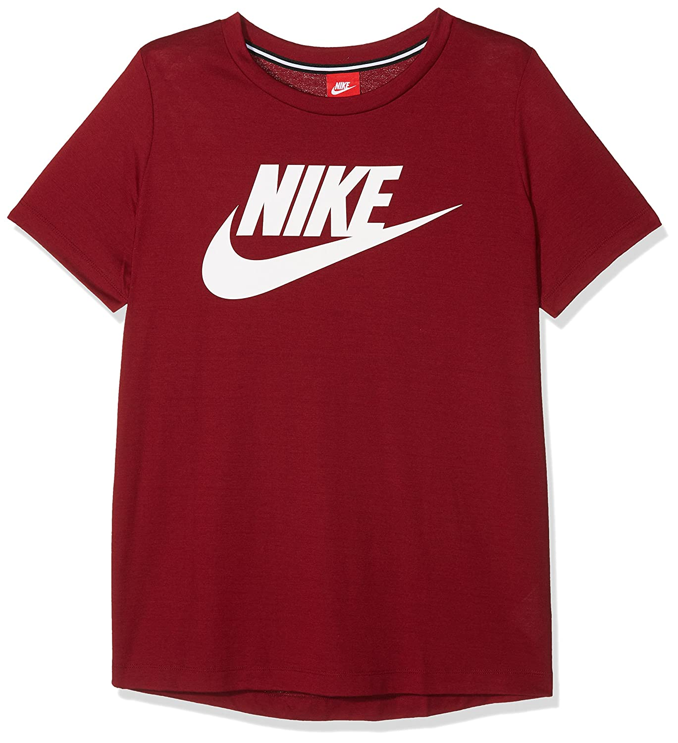 Nike NSW Essntl Tee Hbr, T-Shirt Donna, Team Red/White, XS 829747-677