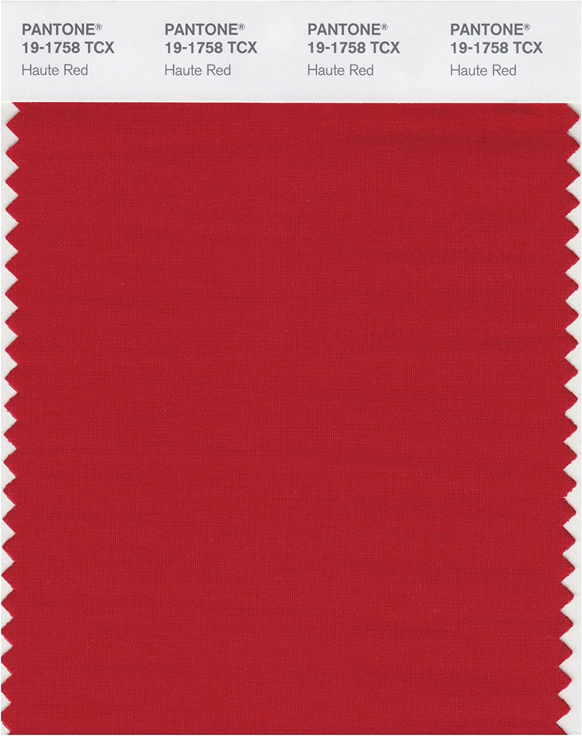 Pantone 19-1758 TCX Smart Color Swatch Card, Haute Red