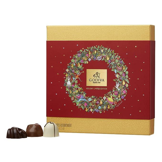 Godiva, Navidad 2018 bombones pralines surtidos caja regalo 24 piezas, 295g: Amazon.es: Alimentación y bebidas