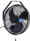 "iLIVING ILG8E18-15 Wall Mount Outdoor Fan, 18"", Black"
