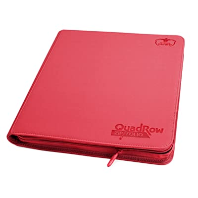 Ultimate Guard Quad Row Zipfolio Xenoskin Card Sleeves, Red: Toys & Games