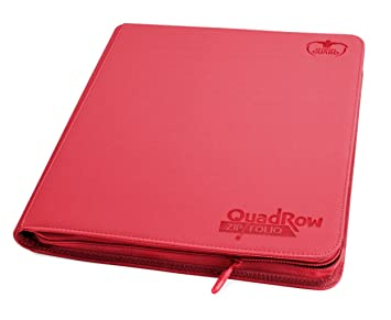 Ultimate Guard 12-Pocket QuadRow XenoSkin ZipFolio Red