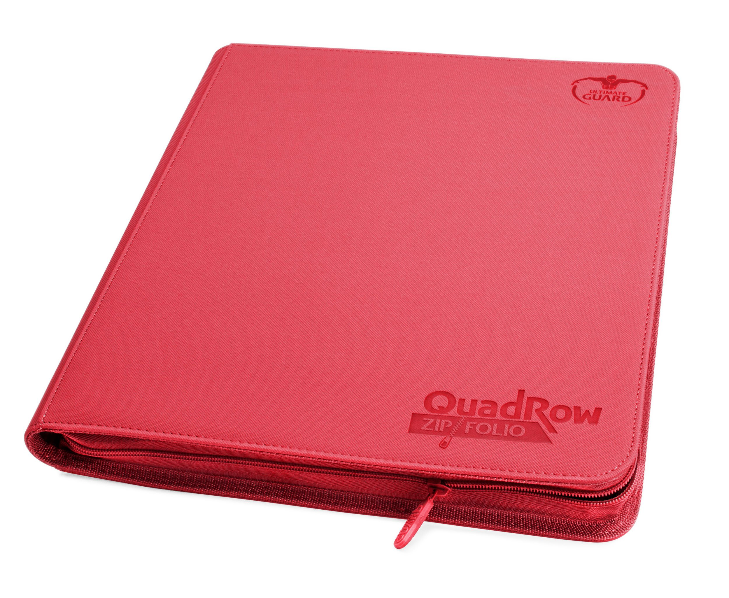 Quad row Zipfolio Xenoskin Card Sleeves, Red
