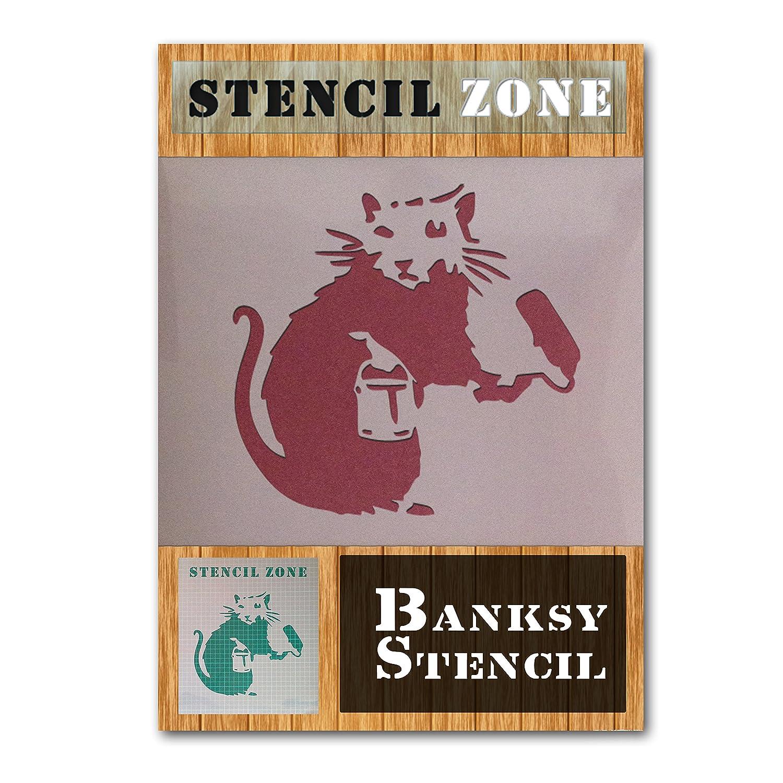 Banksy Maus Mylar Airbrush Gem/älde Art Wand Schablone A1 Size Stencil Xlarge plastik