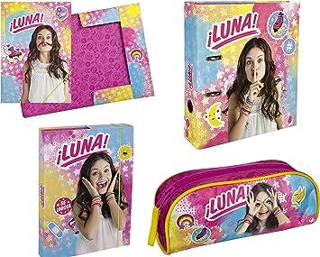 Soy Luna Cuaderno Caja + + – Carpeta con goma carpeta A4 + Estuche escolar de Disney (174): Amazon.es: Juguetes y juegos
