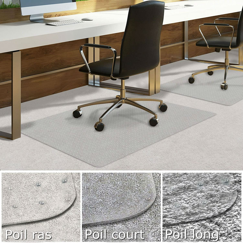 Protector para Suelo Duro 75 x 120 cm para silla de escritorio Parqu/é transparente Casa Pura Alfombra de protecci/ón para el suelo