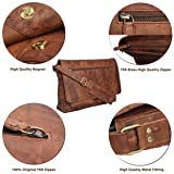 Leather Messenger Bag for Men & Women 14inch laptop Bag for Travel College Work - Handmade by LEVOGUE