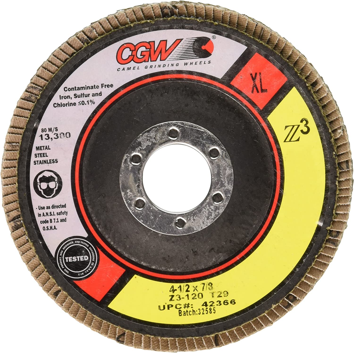 """25 4-1//2/""""x1//8/""""x7//8/"""" Flexible Grinding Wheel 60 GRIT for Stainless Steel /& Metal"""