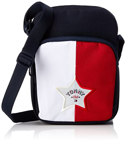 Tommy Hilfiger - Kids Unisex Colorblock Reporter, Bolso Niños, Blau (Corporate),