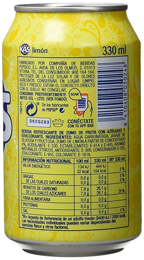 Kas Limón - Bebida refrescante de zumo de fruta, lata 33 cl: Amazon.es: Alimentación y bebidas
