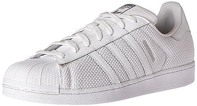 adidas Originals Men's Superstar Shoe Sneaker, White, 11