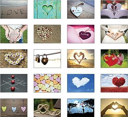 52-er cartes postales-Set sur le thème Amour /& Mariage 52 semaines-Mariage Jeu