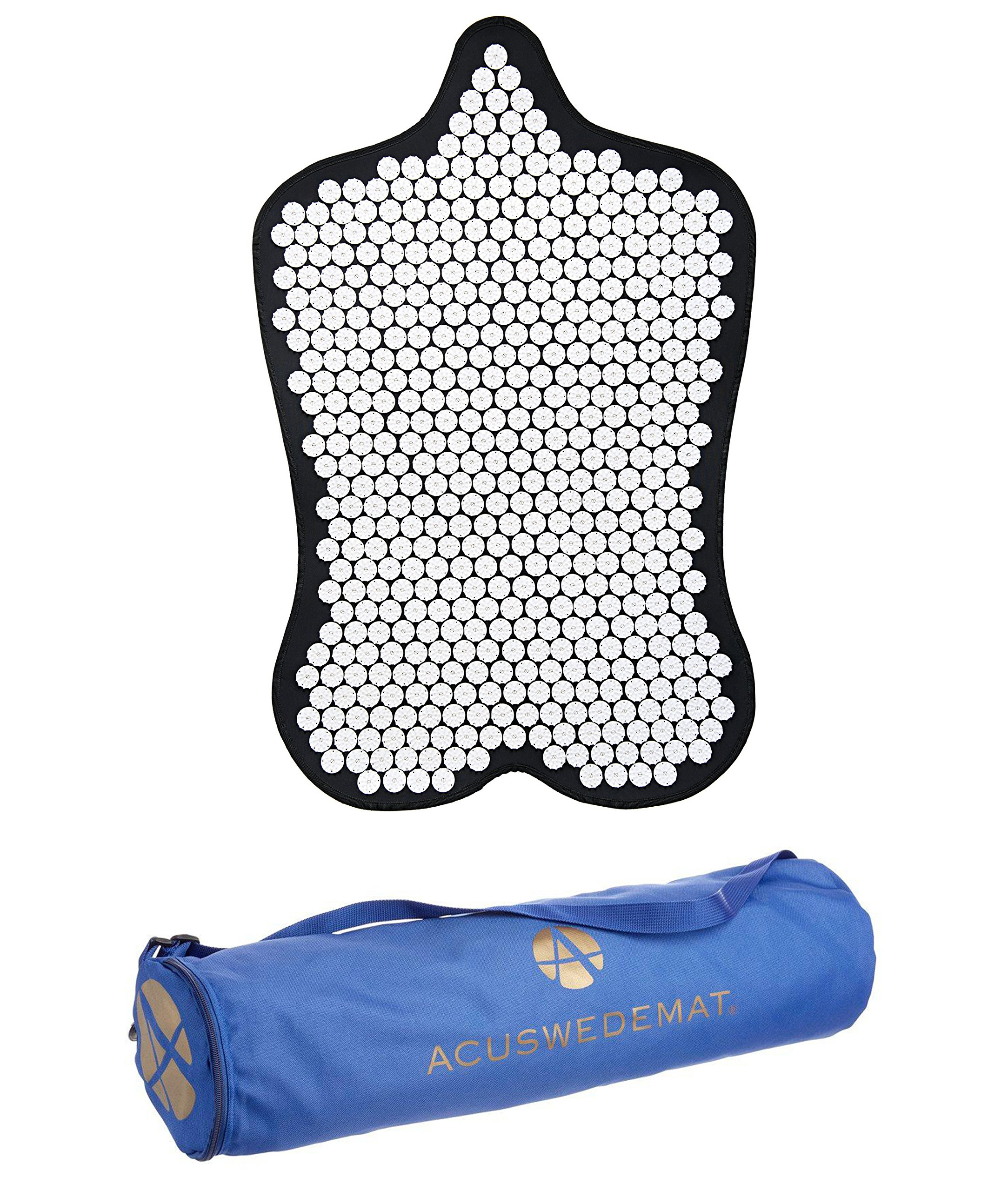 Acuswede Muscle Recovery and Pain Relief Acupressure Mat- Professional Grade w/ 14,000 points | Large Surface Provides Deep Muscle Recovery (Carry Bag Included)