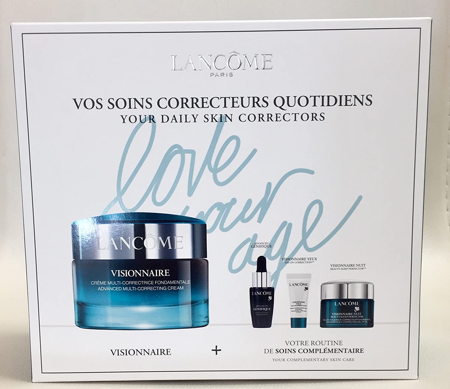 ランコム Visionnaire Set: Advanced Multi-Correcting Cream+Nuit Beauty Sleep Perfector+Eye Balm+Genifique Advanced Concentrate 4pcs並行輸入品 B079LGX3BH