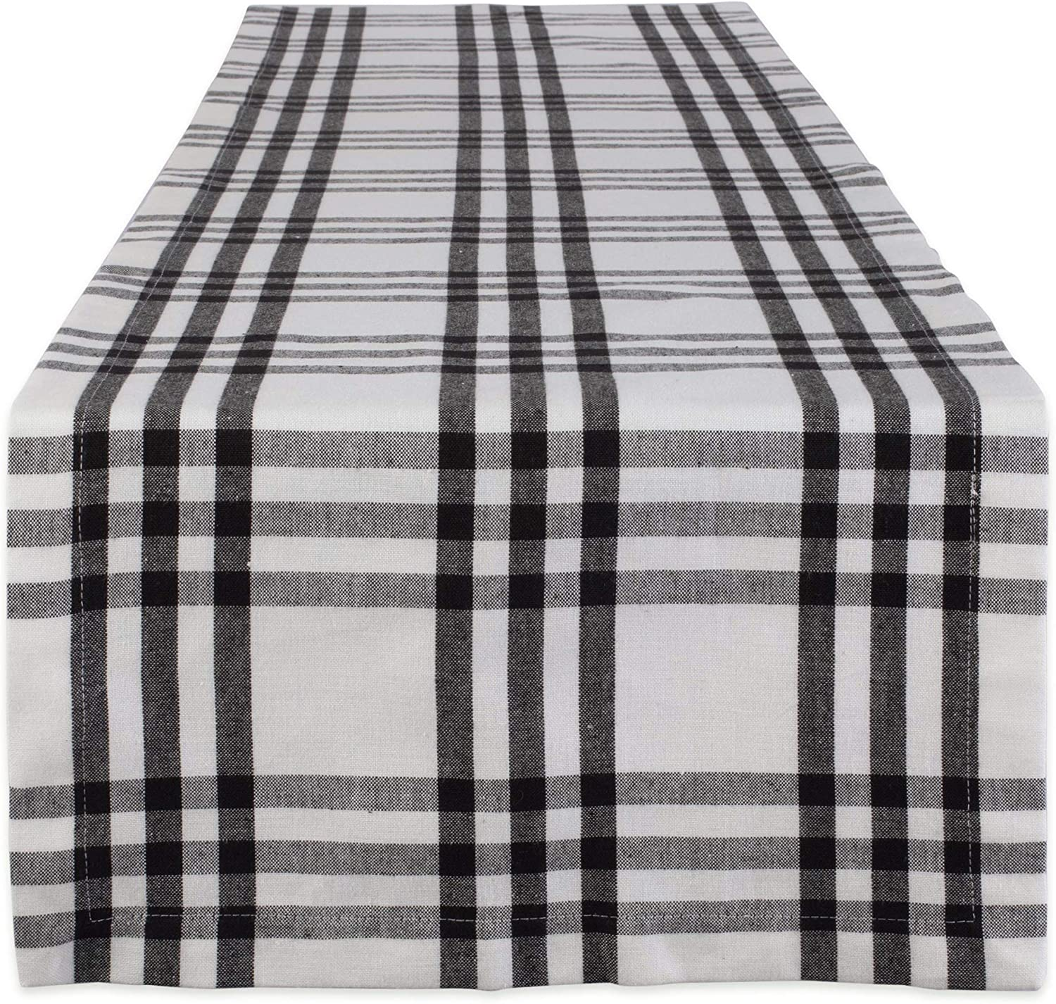 DII Home Sweet Farmhouse Table Top Collection Stylish Décor for Family, Dinner Parties, Weddings & Everyday Use, Runner, 14 x 72, Black Plaid