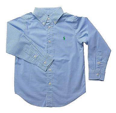 b1c8a0af1 Boys Ralph Lauren Long Sleeve Checkered Oxford Shirts (14-16 (L)   10-12yrs    150cm