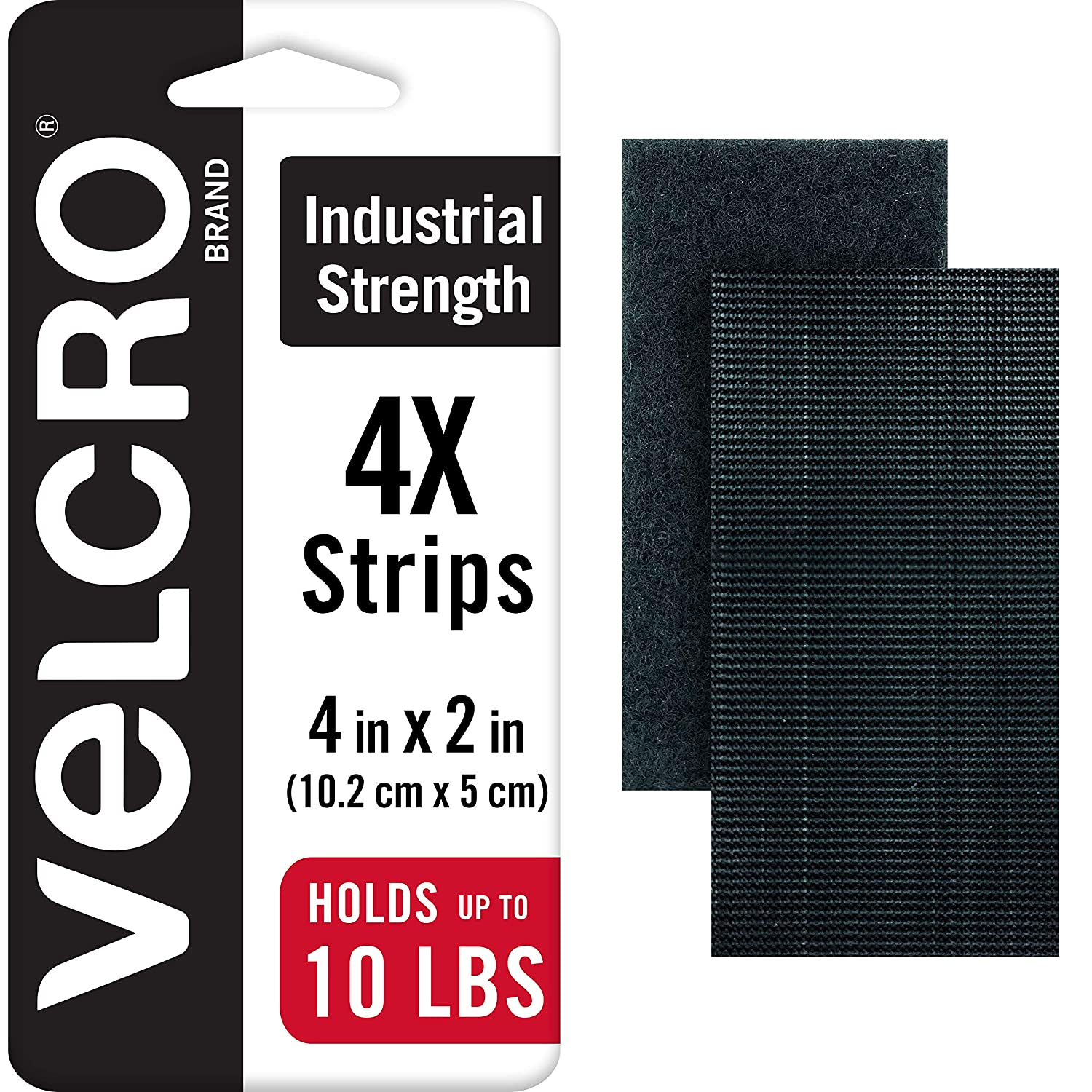 COINS Brand 16 Pack 5cm Hook and Loop Tape Round Superior Holding Power on Smooth Surfaces Black