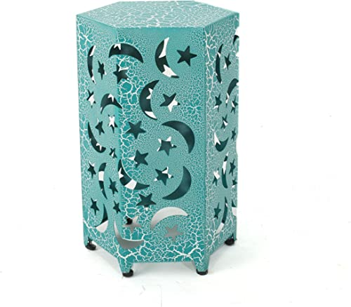 Christopher Knight Home Jupiter Outdoor 12″ Iron Moon and Stars Side Table