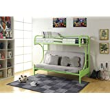 ACME Furniture 02091W-GR Eclipse Futon Bunk Bed, Twin/Full, Green