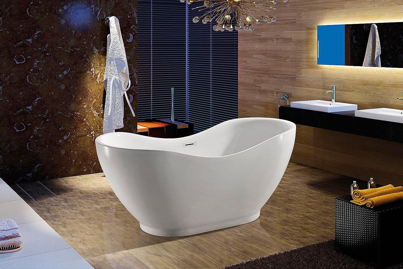 Akdy Bathroom White Color FreeStand Acrylic Bathtub AZ-F290 ...