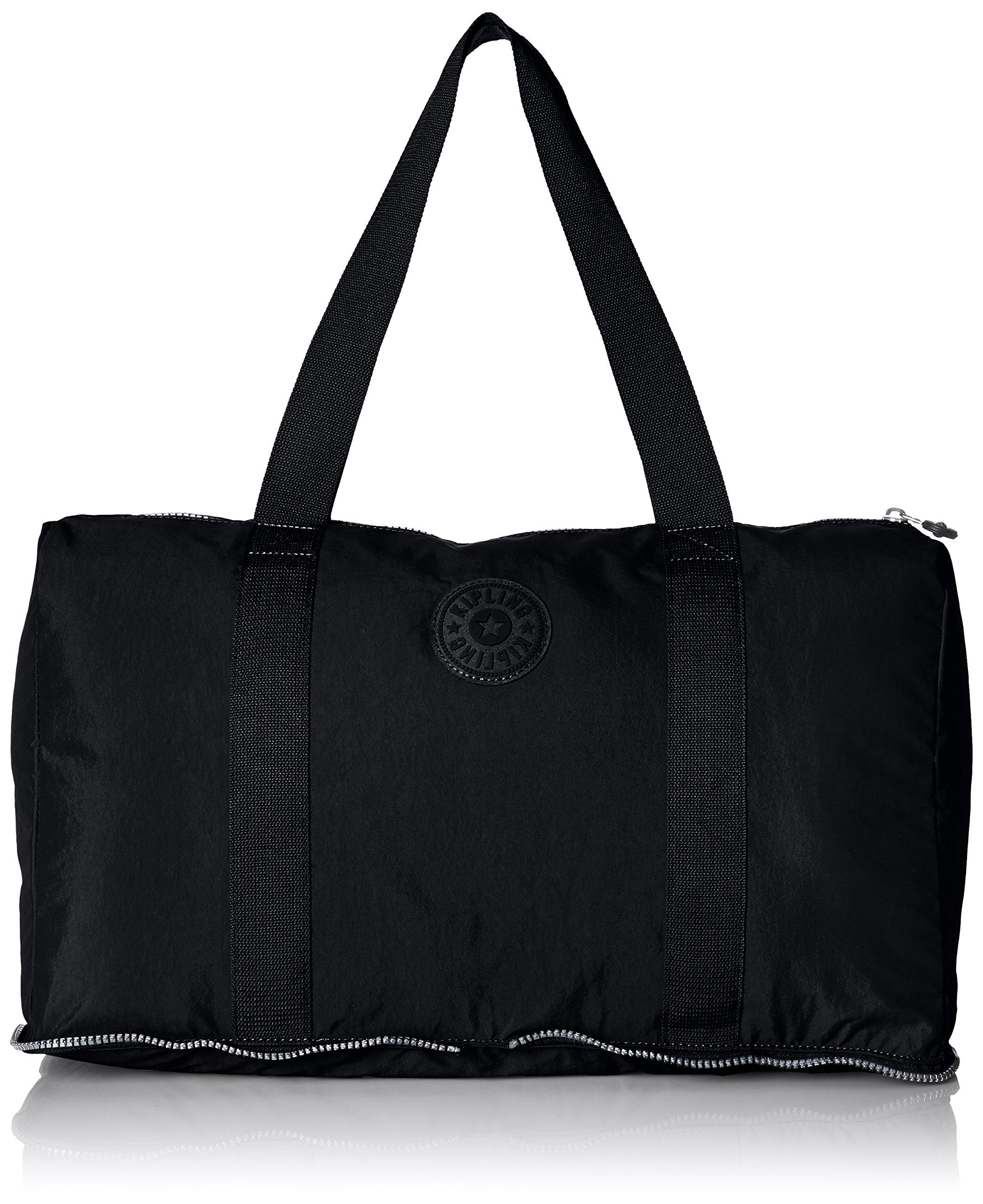 Kipling Women's Honest Solid Packable Duffle Bag, Black
