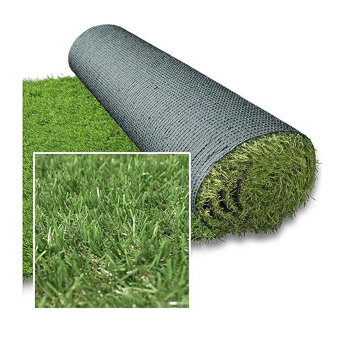 DECOWEB Césped sintético Verde Alpage 30 mm (1 x 4 m = 4 M²)