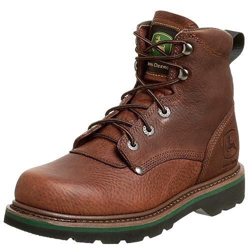 """John Deere jd6193 Hombres de 6 """"marrón Nogal Antideslizante Botas de Trabajo, Color"""