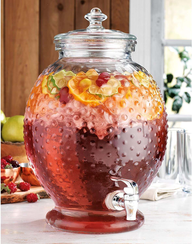 Home Essentials Hobnail Beverage Dispenser 2.65 Gallons
