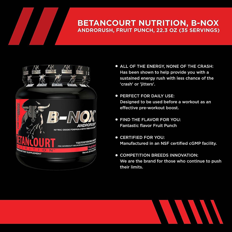 Betancourt Nutrition - B-NOX Androrush, Promotes A Better Pre