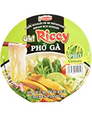 Oh! Ricey OS21914 Instant Chicken Rice-Noodle Bowl, 70 Grams (Pack of 12)