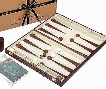 Backgammon Set - 15 Inch - Luxury Backgammon Set by Jaques of London